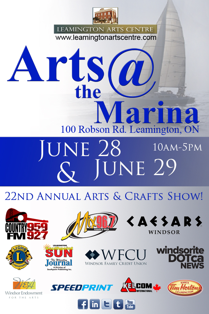 Poster for Arts @ the Marina, Leamington