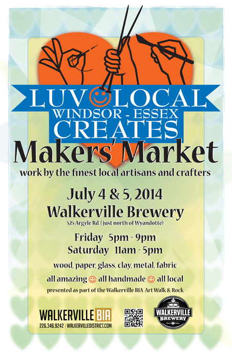 LUV Local Windsor-Essex Creates Makers' Market at the Walkerville Brewery Poster