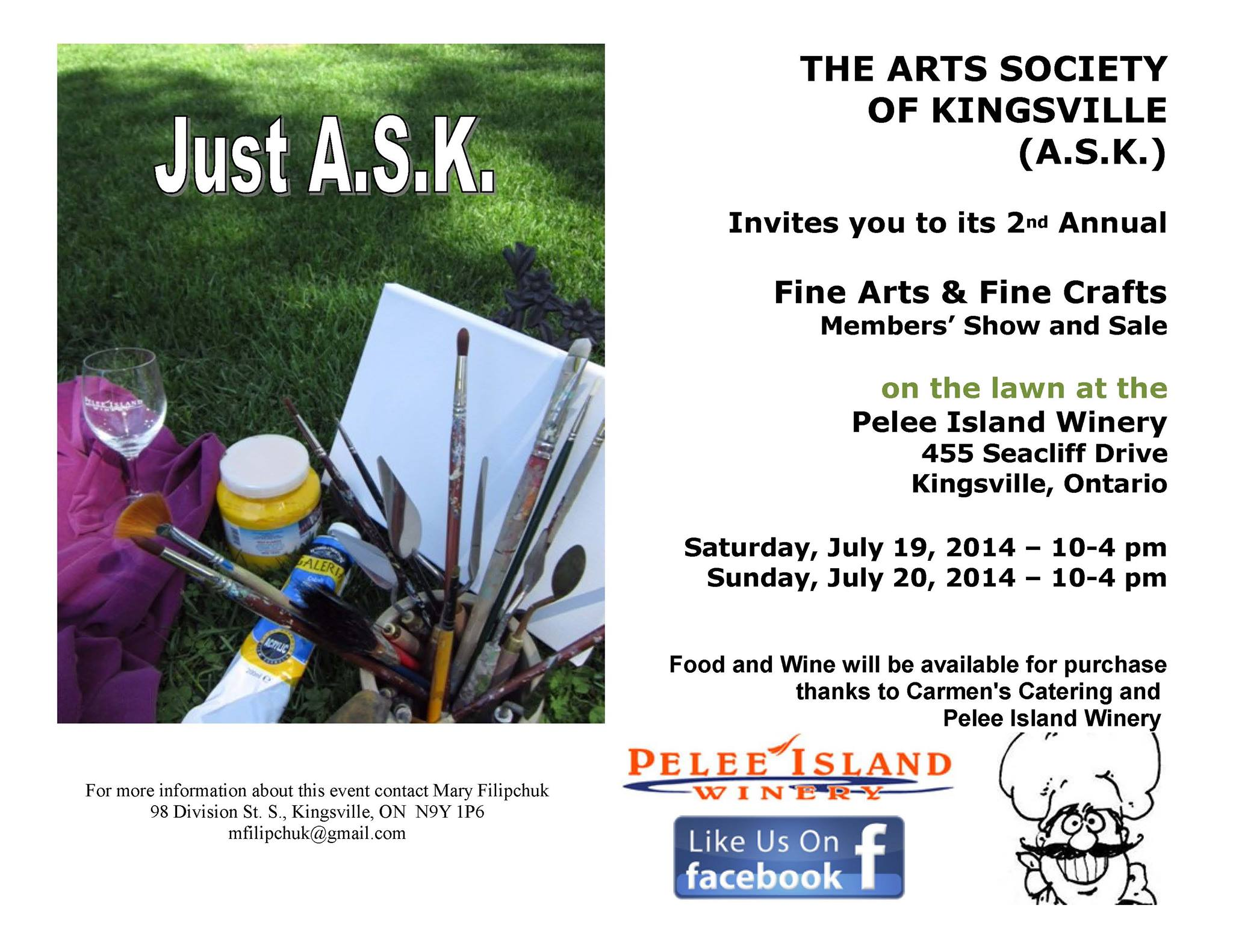 Poster for Arts Society of Kingsville Fine Arts & Fine Crafts Show & Sale