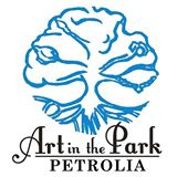 Tree logo for Art in the Park Petrolia