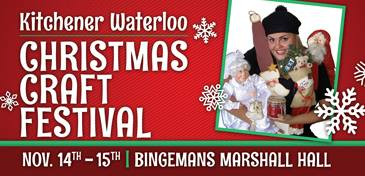 Kitchener-Waterloo Christmas Craft Show Header