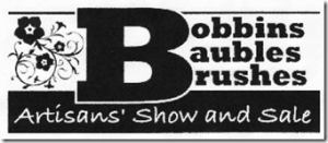 Bobbins, Baubles, Brushes Artisans'  Show & Sale logo